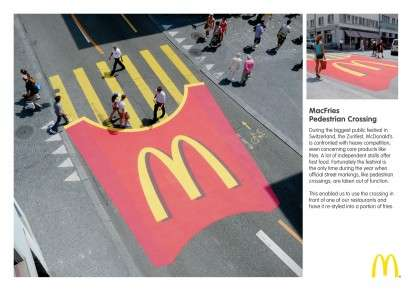McDonalds MacFries Pedestrian Crossing 412x291