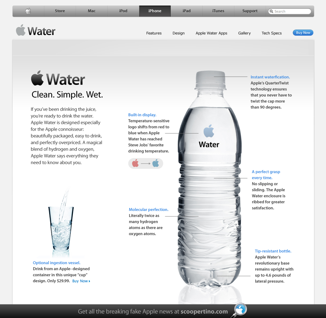 Apple water iwater