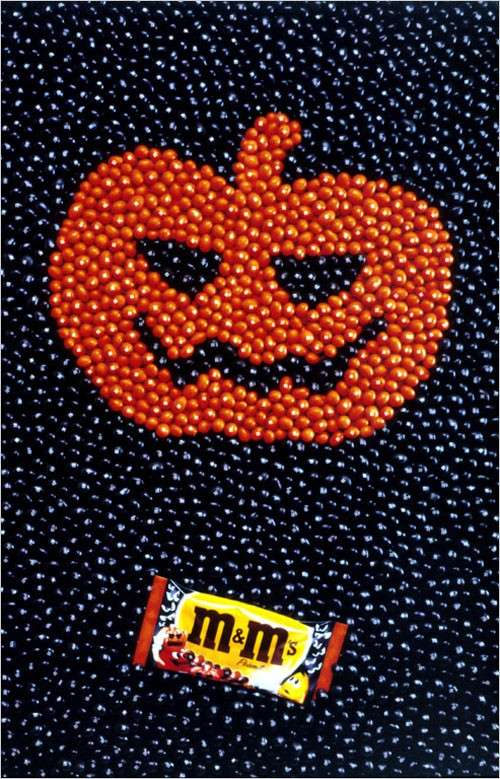 Affiche M And Ms Halloween Citrouille