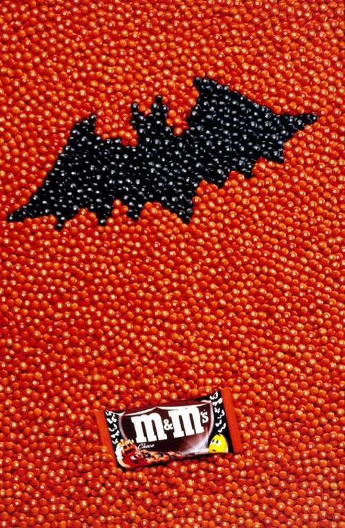 Affiche M And Ms  Halloween Chauve Souris