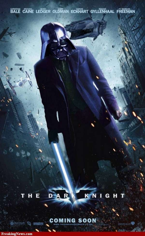 Mashup Affiche Cinema Star Wars Batman
