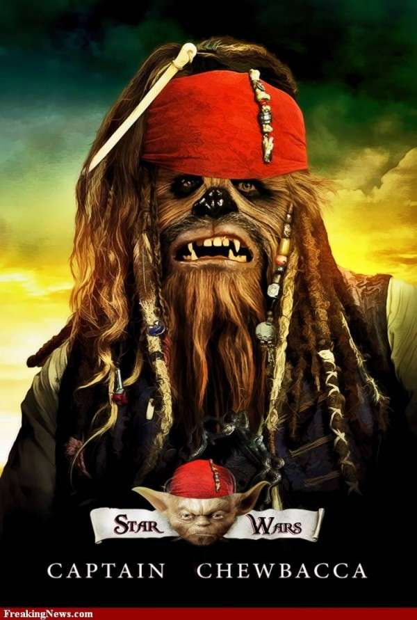 Mashup Affiche Cinema Star Wars Pirate Caraibes