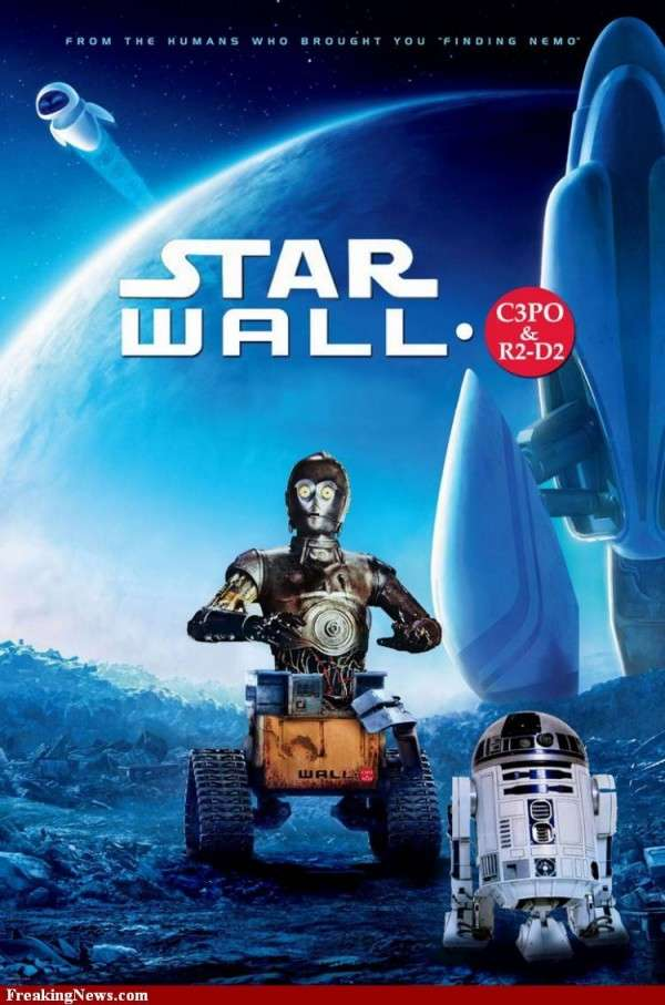 Mashup Affiche Cinema Star Wars Wall E