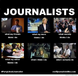 photos Les journalistes - What I Actually Do