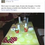 Ca c&rsquo;est du diner romantique !