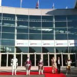 photos GamesCom 2009 : un StormTrooper atterrit en JetPack