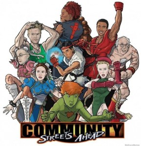 photos Mashup Community et Street Fighter