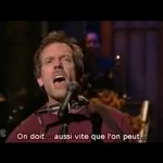Hugh Laurie (Dr House) se prend pour Bob Dylan