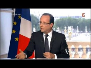 photos L'interview de Hollande démontée
