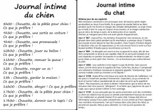 photos Journal intime du chien et du chat