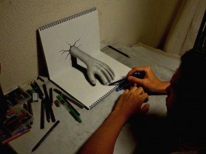 photos Dessins en fausse 3D