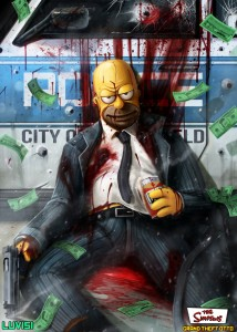 photos Mashup GTA et Simpsons