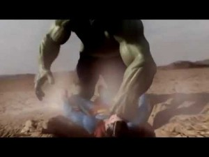 photos Hulk vs Superman, le combat