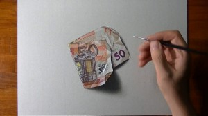 photos Dessiner un billet de 50 euros réaliste