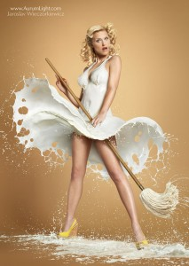 photos Des pin-ups et du lait